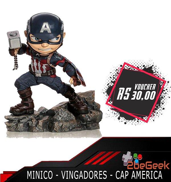 Minico Vingadores Ultimato: Capitão America - Pré-venda