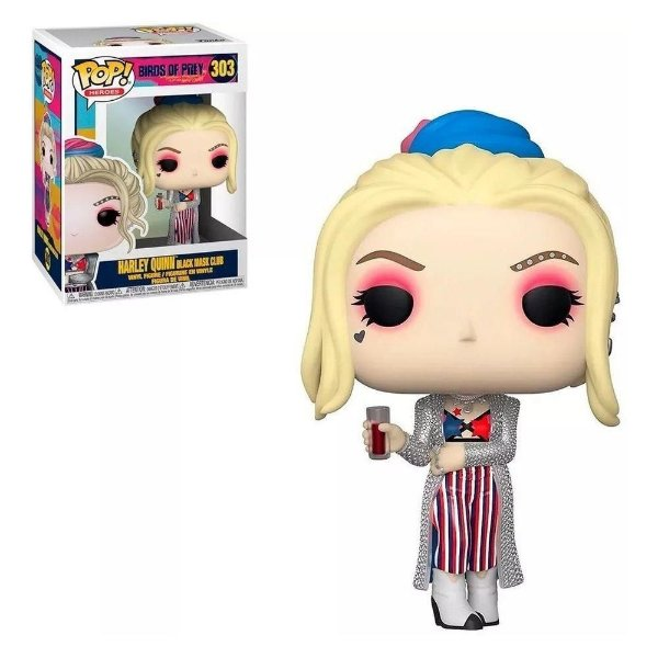 Funko Pop Bird of Prey: Harley Quinn Black Mask Club 303