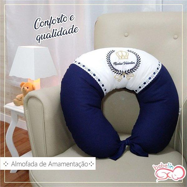 Almofada de Amamentação Personalizada Azul Marinho