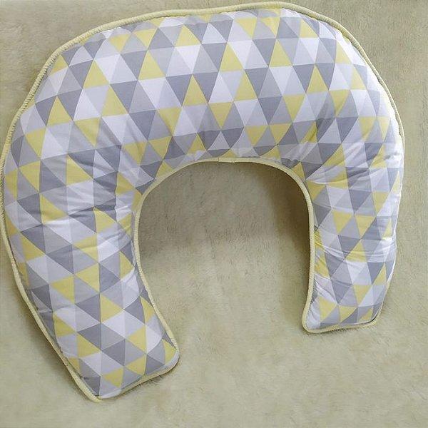 Almofada Amamentação Triangular Amarelo