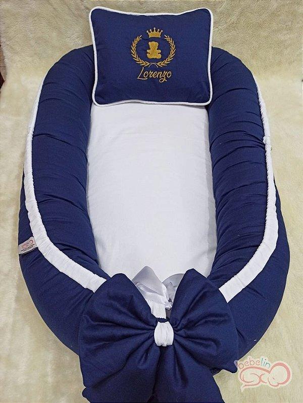 Ninho Ursinho Príncipe Azul Marinho