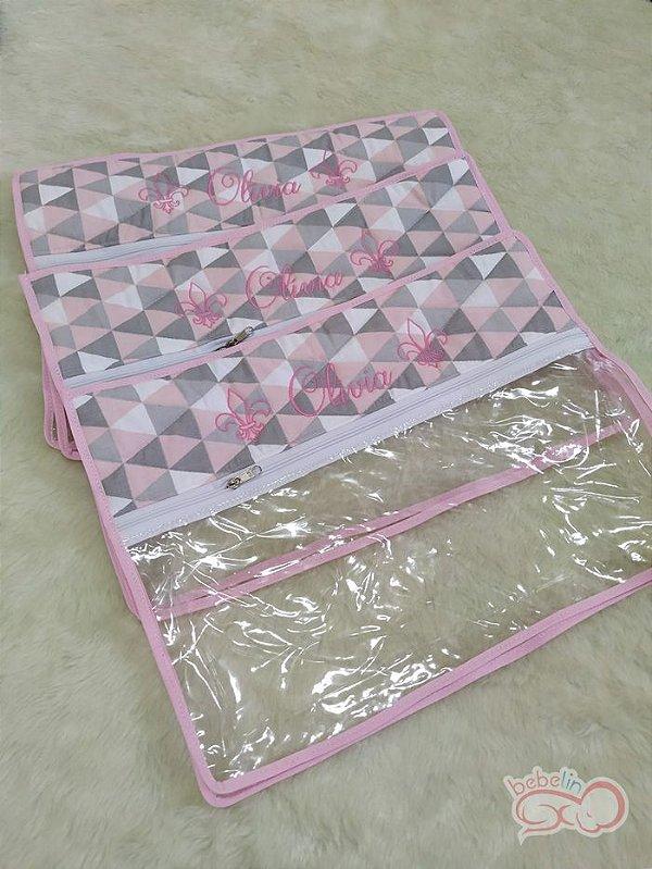 Sacolas Organizadoras Estampa Triangular