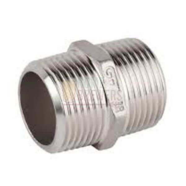 NIPLE SEXTAVADO INOX 316 BSP M-M 3/8p