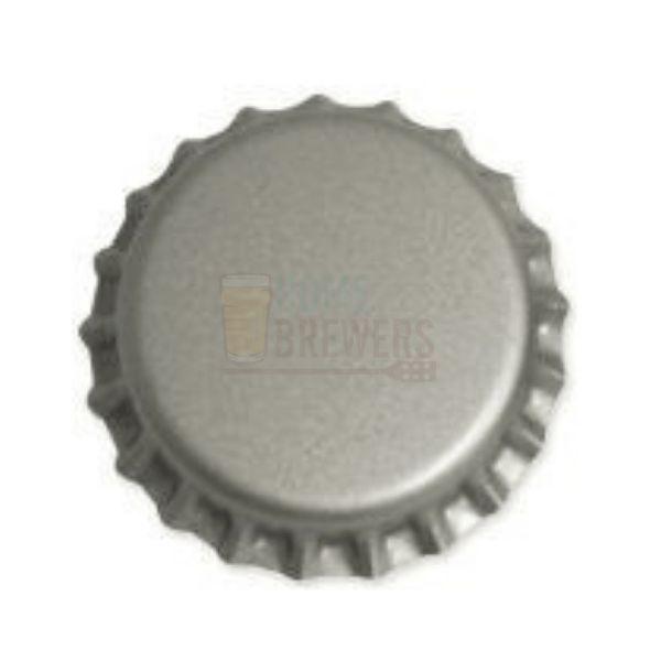 Tampinha metalica pry off prata 26mm c/ 200g (aprox. 100 un)