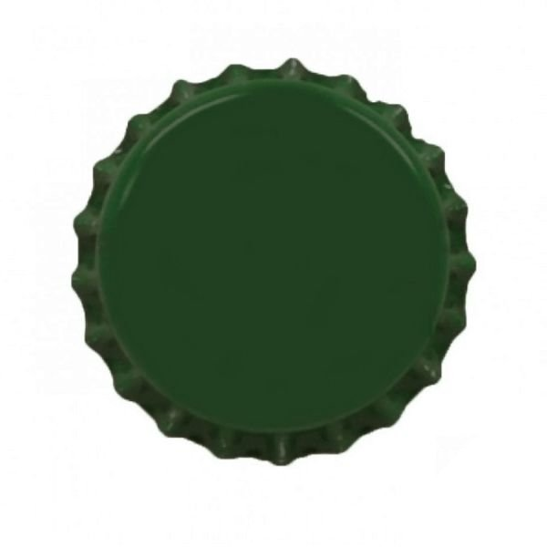 Tampinha metalica pry off Verde 26mm c/ 100g (aprox. 50 und)