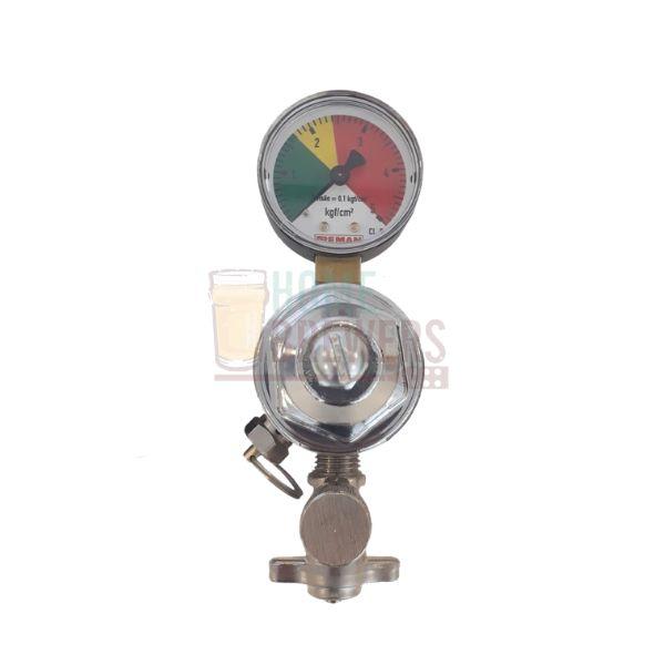 Manômetro Regulador de Pressão CO2 Saída Simples - para linha de chopp