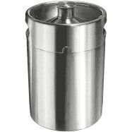 Barril em inox com capacidade 5,0L, sem tampa