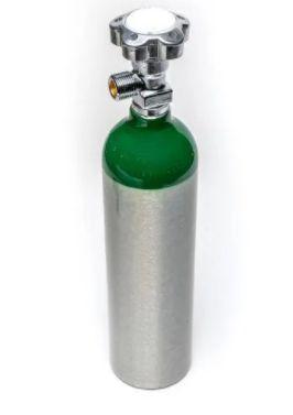 """Cilindro para Oxigênio 1L-  Válvula 3/4"""" ABNT"""