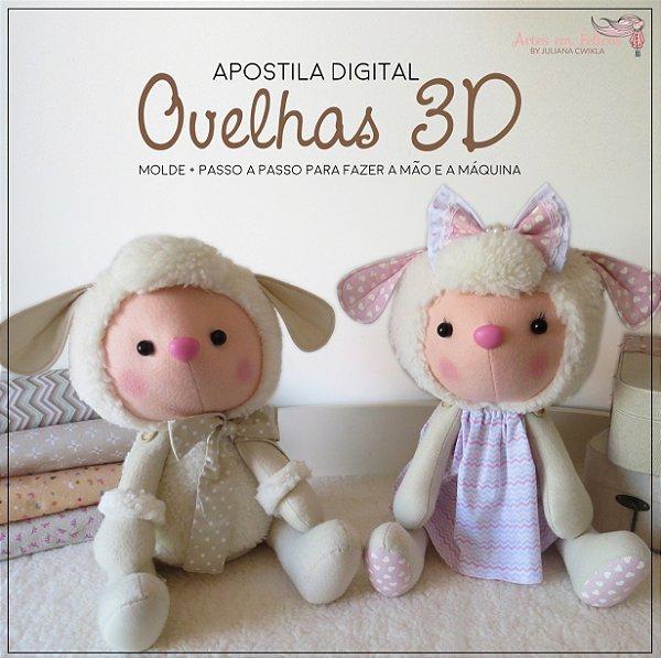 Apostila Digital Ovelhas 3D - by Juliana Cwikla - FAÇA NA MÃO E NA MÁQUINA