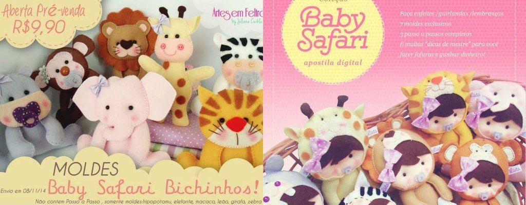 COMBO SAFARI  (APOSTILA BABY SAFARI+ KIT MOLDES BICHINHOS SAFARI) IDEAL INICIANTES