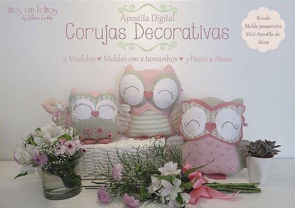 MEGA PROMOÇÃO APOSTILA Digital Corujas Decorativas - FAÇA NA MÃO OU NA MÁQUINA