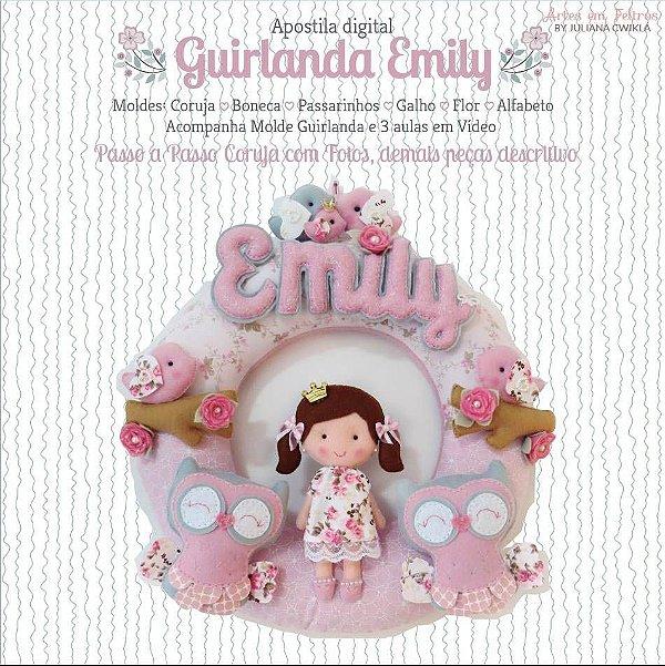Apostila Digital Guirlanda Emily - Artes em Feltros {Kit maternidade completo}