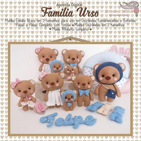 Apostila Digital Família Urso - Artes em Feltros