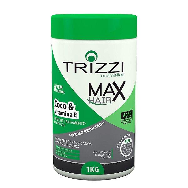Creme de Tratamento e Nutrição Coco e Vitamina E 1kg Trizzi
