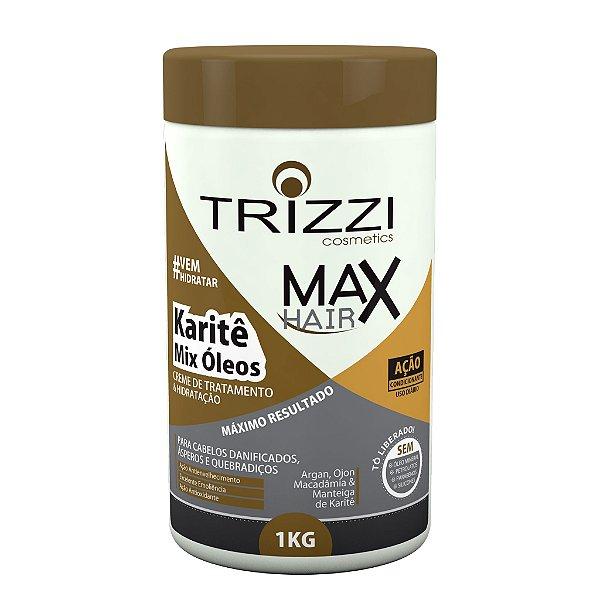 Creme de Tratamento e Hidratação karitê e Mix Óleos 1kg Trizzi