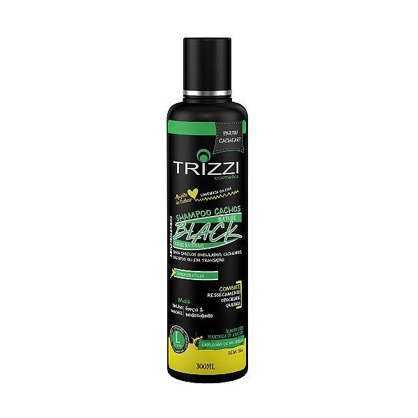 Shampoo Nature Black Cachos 300ml Trizzi