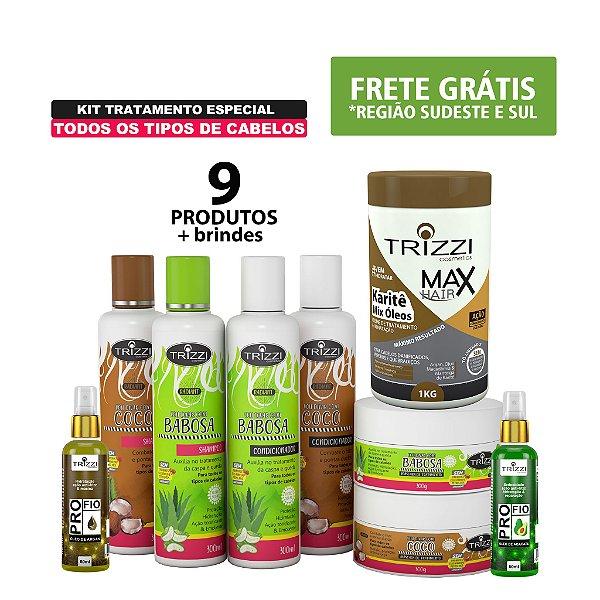 Kit Mega Tratamento Especial para todos os tipos de cabelos Trizzi