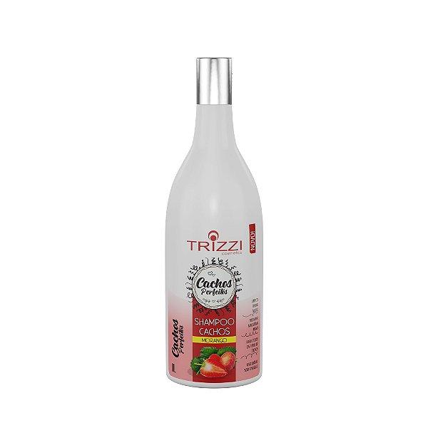 Shampoo Cachos Perfeitos Morango 1L Trizzi Cosmetics