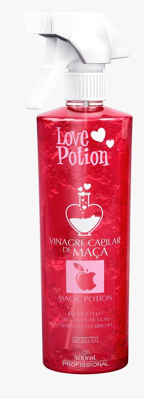 VINAGRE CAPILAR DE MAÇA 500ml - LOVE POTION