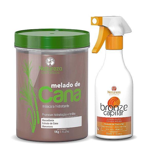 KIT MELADO DE CANA 1KG + BRONZE CAPILAR  500ML