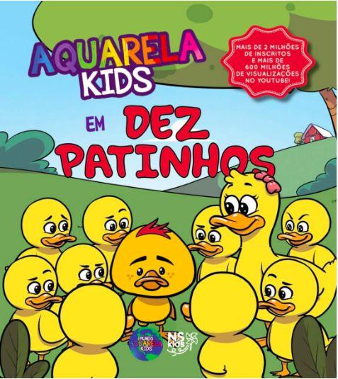 Livro Aquarela Kids em Dez Patinhos