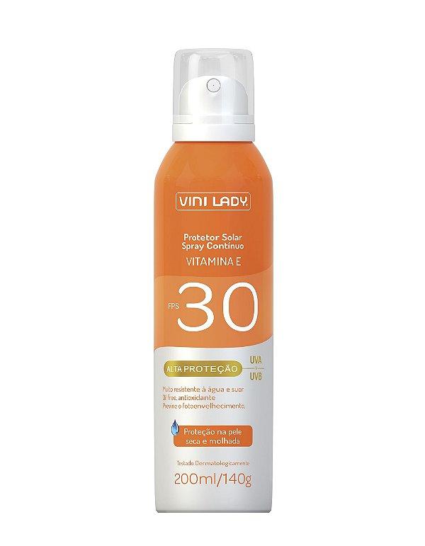 Protetor Solar FPS 30 Aerossol Spray Contínuo 200ml - Vitamina E