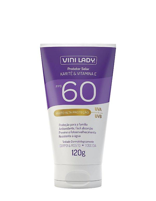 Protetor Solar FPS 60 Corpo e Rosto 120g - Karité e Vitamina E