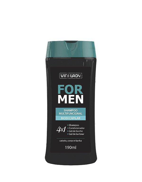 Shampoo Multifuncional For Men 4 em 1 - Bioex Capilar 190ml