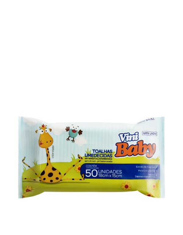 Toalha Umedecida Vini Baby 50 unid.