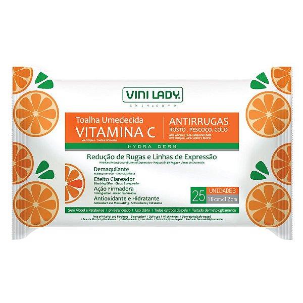 Toalha Umedecida Vitamina C Antirrugas 25 unid.