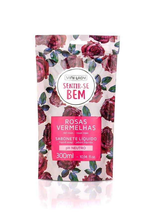 Sachê Sabonete Líquido Sentir-se Bem Rosas Vermelhas 300ml