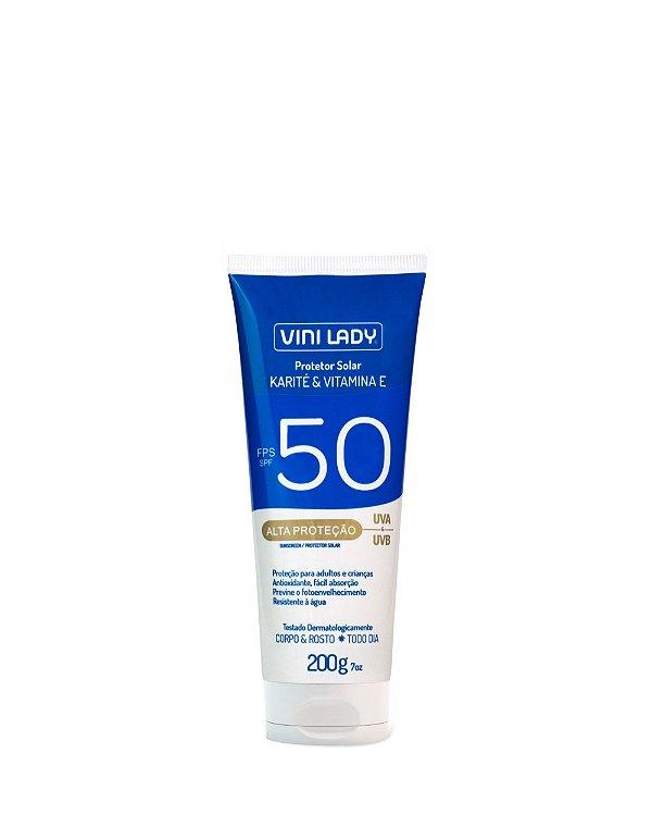 Protetor Solar FPS 50 Corpo e Rosto - Karité e Vitamina E 200g