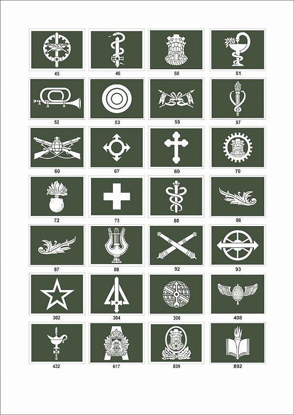 Distintivo Emborrachado Exército Brasileiro
