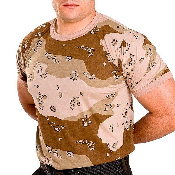 ebd744940fbee Camiseta Camuflado Areia Deserto - Artigos Militares
