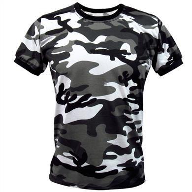 Camiseta Camuflada Urbano P&B - Feminina