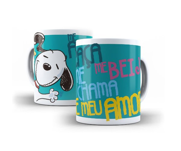 Caneca Snoopy Frases