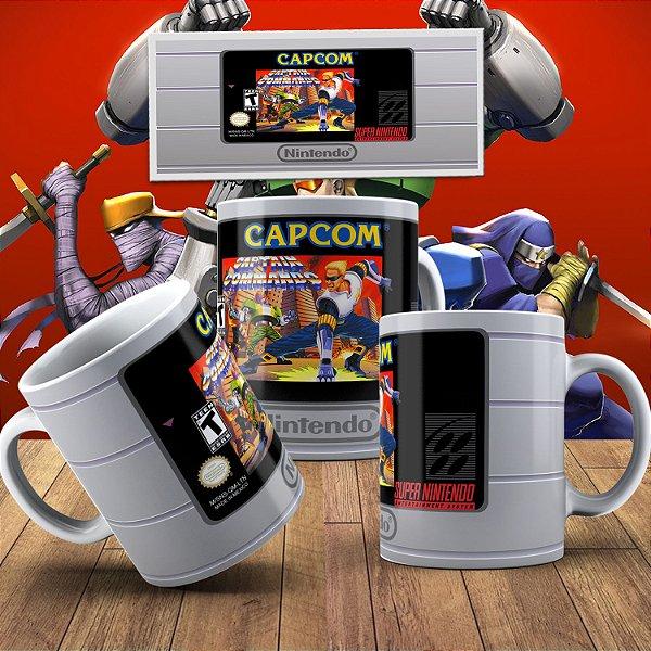 Caneca Fita Super Nintendo - Capitão Comando