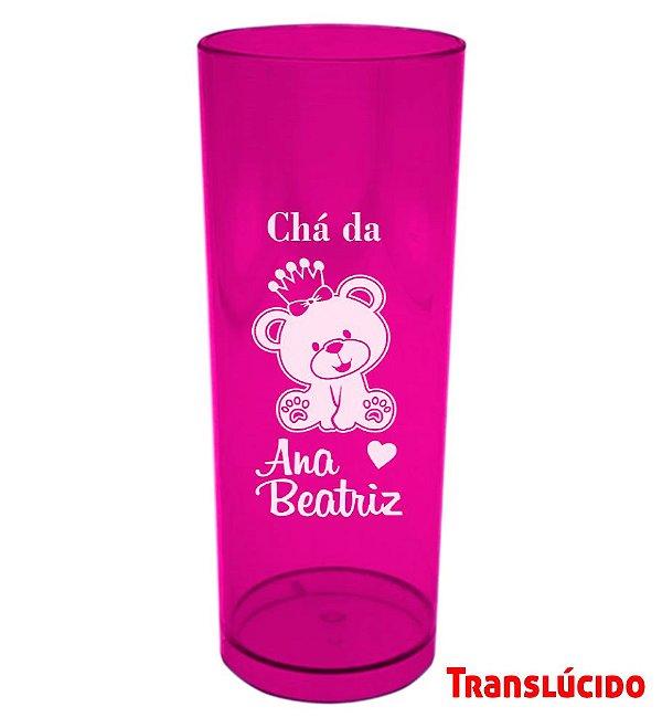 Copo Long Drink Rosa Personalizado