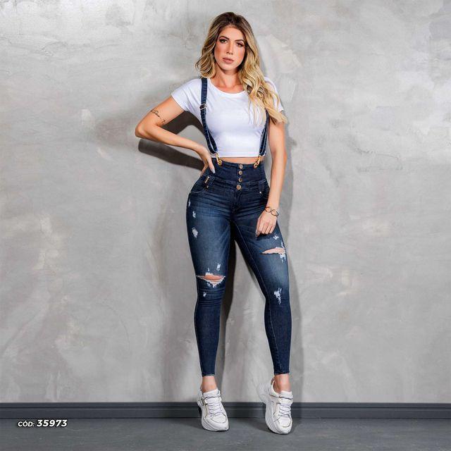 Calça Pit Bull Jeans Com Suspensório Ref. 35973
