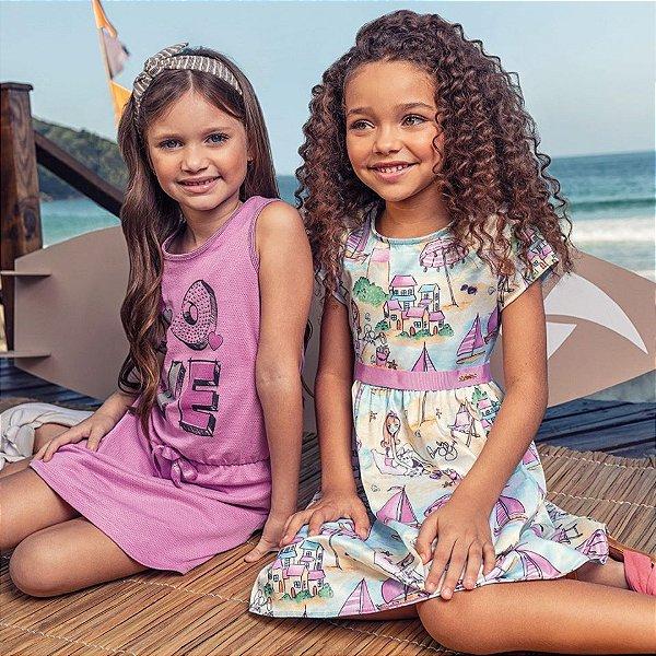 ◼ Kit Quimby Alto Verão 2020 -  Composto por: Conjuntos e Vestidos, Grade: 01 ao 14 , Sendo: 60 peças