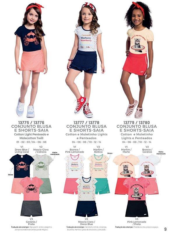 ◼ Kit Abrange Verão - Composto por: 30 peças, Grade: 1 ao 14, Sendo: Conjuntos e Vestidos. IMAGENS ILUSTRATIVAS