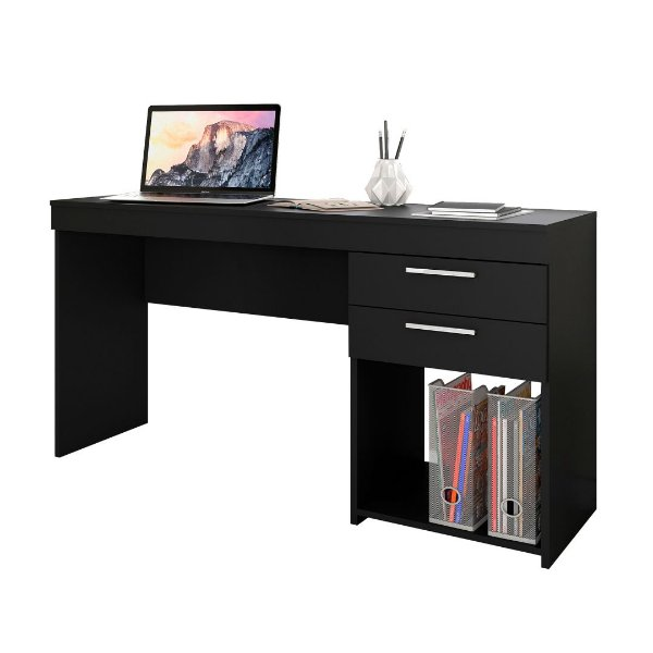 Mesa de Computador Office Preta Notável Móveis