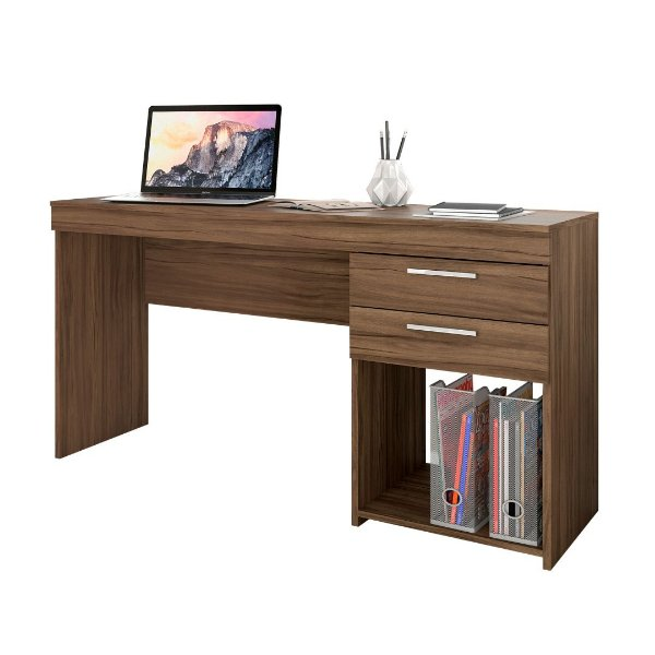 Mesa de Computador Office Nogal Notável Móveis