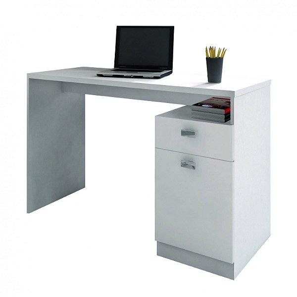 Mesa de Computador 1 Porta 1 Gaveta Delta Branco Benetil Móveis