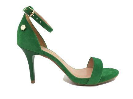 3d9aa8d7679 Sandália Verde Esmeralda - Audácia Calçados . Seus Pés Sempre na Moda !
