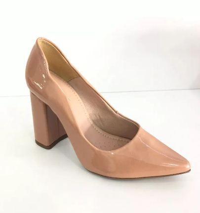 c8fd216d37 Sapato Scarpin Feminino Salto Alto Bloco Grosso - Audácia Calçados ...