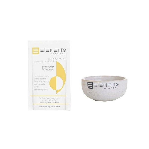 Kit Tratamento Argila Amarela com Bowl - Elemento Mineral