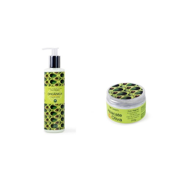 Kit Oil Cream e Sabonete Líquido Abacate e Oliva - Grupo Orgânica