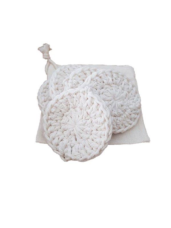 Ecopad - Discos de crochê com 5 unidades, 1 saco de algodão