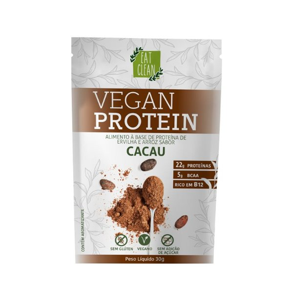 Sachê Proteína Cacau Eat Clean - 30g - Vegana